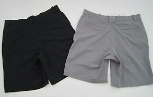 Lot of 2 Mens size 36 Under Armour Bent Grass gray black golf shorts