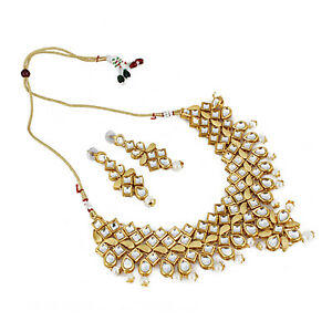 Designer party Wear Kundan Necklace Set With Earrings For Women  Girls- GCN1268