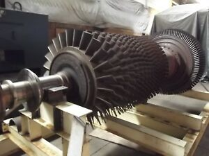 Used GE Frame 5M Gas Turbine Rotor 2-stage power turbine; 16-stage compressor