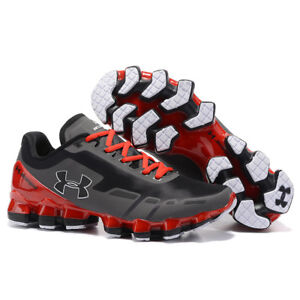 Fashion Men's Under Armour Mens UA Scorpio Running Shoes Red+Gray Leisure shoes