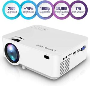 Leisure 3 Upgraded LED Projector 2200 Lumens Multimedia Home Theater Video