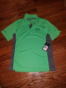 Under Armour Boys Size 7 Polo Style Dry Fit Collared Shirt Brand New with Tags!