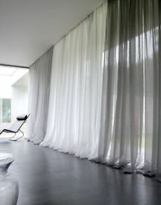 Solid Pure White Sheer Voile Window Curtain In ALL Sizes OVERSTOCK SALE