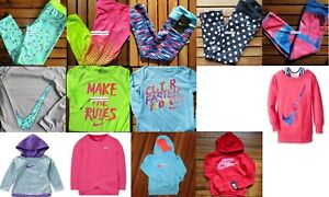 GIRLS NIKE 4 ~ HUGE LOT ~ DRI-FIT LEGGINGS ~ HOODIES ~ LONG SLEEVE TOPS ~ $452