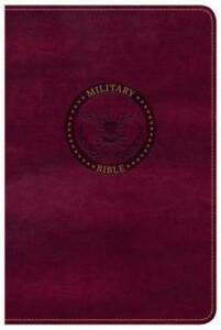 CSB Military Bible Burgundy Leathertouch by Csb Bibles by Holman: New
