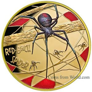 Niue 2018 100$ Deadly & Dangerous Red-Back Spider
