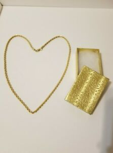 2x Various Stunning 14K Gold Filled StainlessSteel Necklace Chain Unisex withbox $7.00