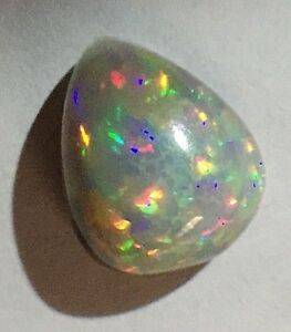 3.25 CT Ethiopian Rainbow Opal With Welo Patchwork Pattern