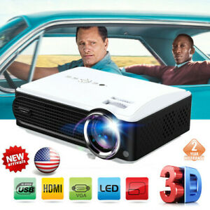LED HD 1080P 3D Projector Home Cinema Theater 7000 Lumen ATV VG USB+2*3D Glasses