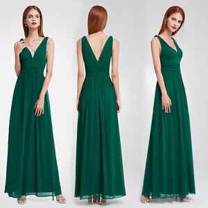 Long Chiffon Bridesmaid Formal Gown Cocktail Party Evening Prom Maxi Dress 09016
