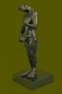 Hand Made Bronze Abstract Modern Curvaceous Female Monster Masterpiece Sculpture $229.00