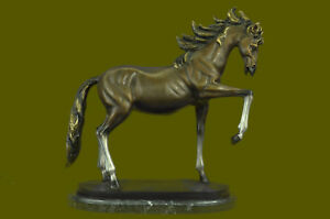 Hand Made Horse Lovers Real 100% Bronze Horses Numbered Statue Equestrian Decor $399.00