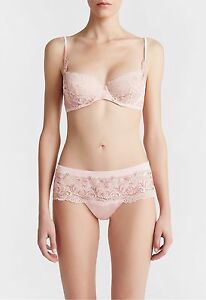 A LA PERLA Secret Story Hipster Silken lace Tanga Briefs Pink NWT $400  S