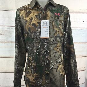 Under Armour Women's UA Performance Field Shirt Size Small REALTREE CAMO $80