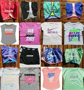 NIKE GIRLS ~ 2T or 4T * 16pc NIKE TEMPO RUNNING SHORTS ~ T-SHIRTS ~ $352 SUMMER
