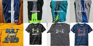 UNDER ARMOUR BOYS YOUTH SIZE 4 ~ SHORTS ~ TOPS ~ NWT ~ 8PC ~ $186 ~ NEW