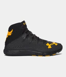 Under Armour Project Rock Delta BlackGold Yellow Shoes The Rock UA All NEW
