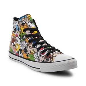NEW Converse Chuck Taylor All Star Hi Looney Tunes Sneaker Multi Print MENS
