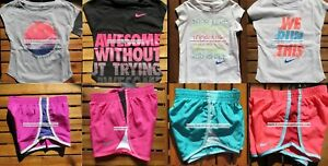 NIKE GIRLS ~ 2T ~ 3T or 4T * 8pc ~ NIKE TEMPO RUNNING SHORTS ~ T-SHIRTS ~ $172