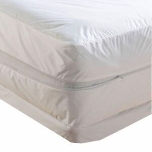 Waterproof Zippered Mattress Protector Bed Bugs Dust Mites cover Vinyl
