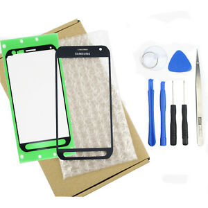 Front Screen Outer Glass Lens For Samsung Galaxy S6 Active AT&T G890 G890A Blue