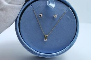 CHOCOLATE DIAMOND BEAUTIFUL WOMENS NECKLACE AND EARRINGS SET 10K GOLD