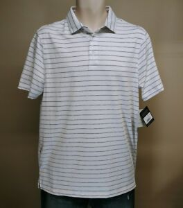 MENS CHAMPION C9 GOLF DUO DRY FIT PERFORMANCE LIGHTWEIGHT STRIPED POLO SHIRT MED