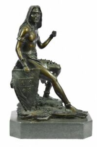 Native American Indi Bronze Sculpture Statue **SALE*DEAL*GIFT** an Chief Marble