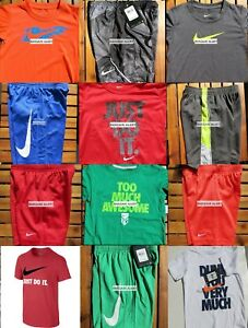 NIKE BOYS SIZE 4T ~ SHORTS ~ T-SHIRTS ~ DRI-FIT ~ NWT ~ $254~ 12pc ~ NEW SUMMER