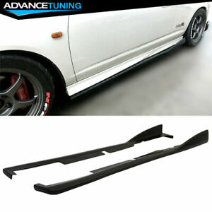 Fits 02 06 Acura RSX DC5 CS Style Bottom Line Side Skirts Extensions PU $184.99