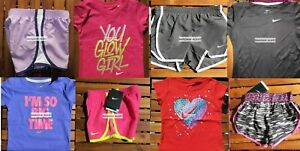 GIRLS 6 SUMMER CLOTHING ~ TEMPO RUNNING SHORTS ~ T-SHIRTS ~ NEW ~ 8 Pieces $181