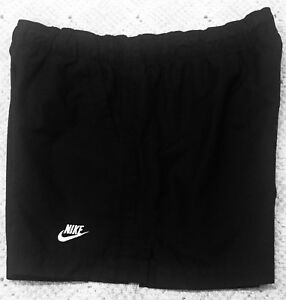 Womens NIKE SPORTSWEAR Solid Black Athletic Shorts SMALL 4-6 Track Running Gym