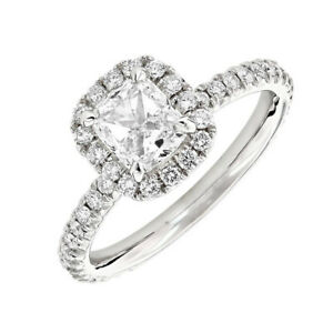 18k Gold Cushion Shape GIA Certified Halo Design Diamond Engagement Ring 2.01 CT
