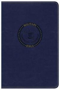 CSB Military Bible Royal Blue Leathertouch by Csb Bibles by Holman: New