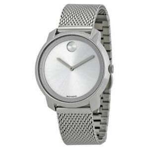 Movado Bold Women's Swiss Stainless Steel Mesh Bracelet Watch 3600241