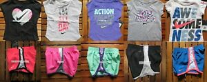 NIKE GIRLS ~ 2T ~ 3T or 4T * 10pc ~ NIKE TEMPO RUNNING SHORTS ~ T-SHIRTS Summer