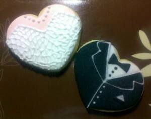 24 Sweet and Delicious Wedding Gown and Tux Cookies ideal for WeddingEngagement