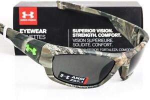 NEW UNDER ARMOUR FORCE SUNGLASSES Satin Realtree Camo frameGrey lens ANSI Z87.1