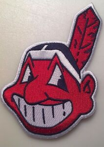 Cleveland Indians patch Chief Wahoo patch jersey sleeve MLB logo patch 5