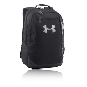 Under Armour Mens Hustle LDWR Backpack Black Sports Gym Full Zip Water Resistant