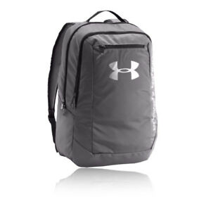 Under Armour Mens Hustle LDWR Backpack Grey Sports Gym Full Zip Water Resistant