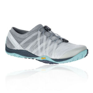 Merrell Womens Trail Glove 4 Knit Running Shoes Trainers Sneakers Grey Sports