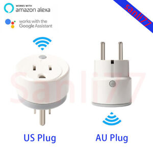 WIFI Smart Power Wireless Switch Socket Timer EUUS Plug For Alexa