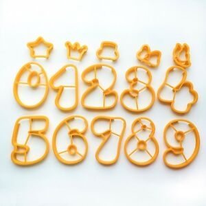 Number Set Cookie Cutters baking supply Number with decoration fondant cutter
