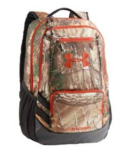 NWT $70 Men's Under Armour UA Camo Hustle Realtree Backpack - 1247302-946