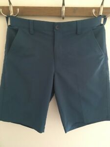 Mens Under Armour Shorts Teal Green Size 34 Golf Casual Lightweight