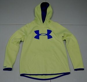 Under Armour Girls Youth M Green Polyester Storm 1 Loose Hoodie Sweatshirt