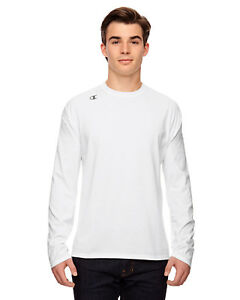 Champion Men's Vapor Cotton Long-Sleeve T-Shirt T390 XS-3XL