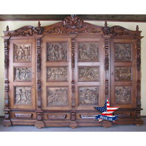 Biblical Closet Carved wood furniture artwork sculpture picture icon decor 3d