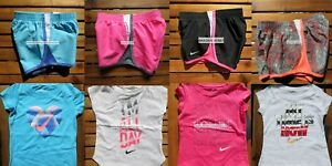 NIKE GIRLS 2T ~ 3T ~ 4T * 8pc ~ NIKE TEMPO RUNNING SHORTS ~ T-SHIRTS Summer $175
